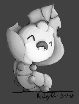 Painting Practice: Sewaddle by AbyssinChaos