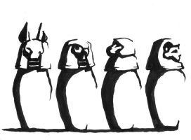 Canopic jars by prolixity