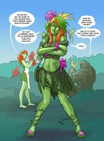 TLIID 87: Poison Ivy and Swamp Thing's kid. by AxelMedellin