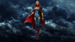Supergirl Wallpaper - In The Clouds by Curtdawg53