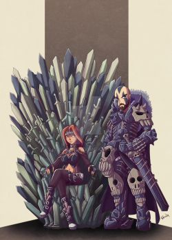 Iron Throne - Commission by Genso-x