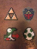Yoshi, Egg, TriForce, Shield by JokerinaQuinn