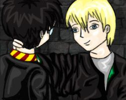 draco and harry by deadeuphoric