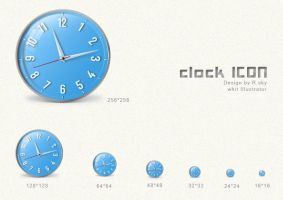 clock icon by Rskys