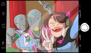 Omnic Fans meet their idol_2 by Thea0605