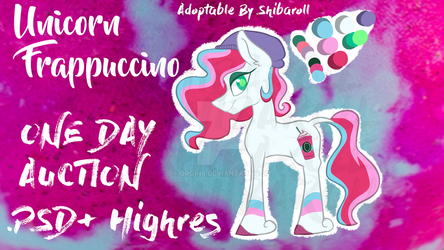 Unicorn frappuccino ADOPT 1 DAY ONLY by Orgin8