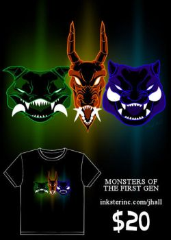 Monsters of the First Gen shirt by JHALLpokemon