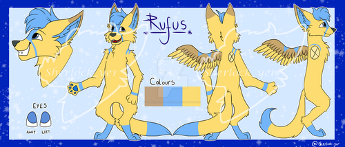 Rufus - Reference Sheet Commission by trenchcoats-and-pie