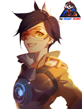 Overwatch Tracer Render HD by PlayerOtaku
