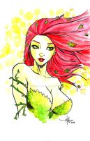Poison Ivy Bust - 2015-11-02 by CreeesArt