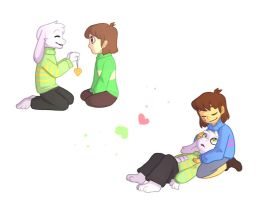 Undertale - friends for goat by Quietpool6