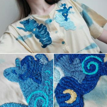 embroidery - Two Sides of Luna by Mao-Ookaneko