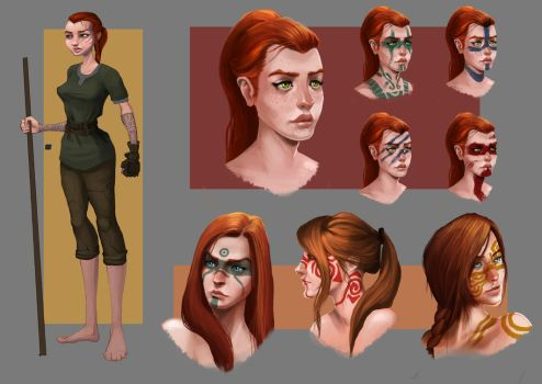 Viking Female concept sheet by Andy-Butnariu