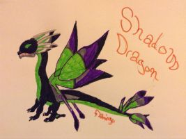 Shadow Dragon - DragonVale |Art Trade| by FlamingGatorGirl