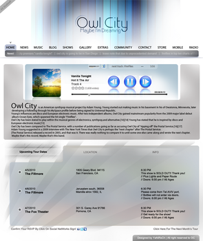 owl city website by yanirsch