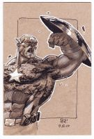 EP CON Captain America SKETCH by 1pez