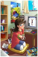 A cute amputee at home by gamera1985