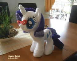 Handmade Rarity Plushie with glasses by HipsterOwlet
