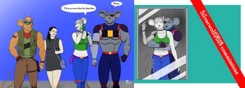 Silverwolf2618 - Commission 2-3 preview by AniaDawson