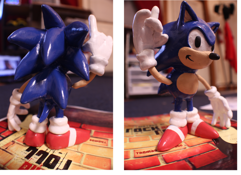Sonic the Hedgehog Aproxy Sculpture by ShinLightning