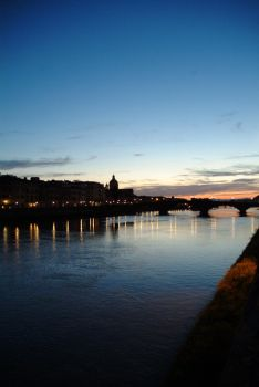 Dusk Drops On The Arno by jhindley