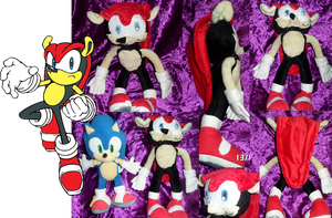 Mighty the Armadillo Plush by SuperSonicFireDragon