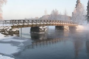Olavinlinna castle bridge 1, unrestricted stock by MariaLoikkii