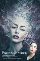 Exclusive Stock: Woman with Red Lips by pelleron