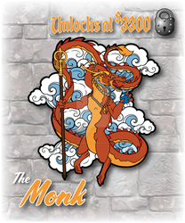 The Monk Dragon Pin by The-GoblinQueen