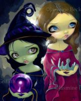 Wicked Witch and Glinda by jasminetoad