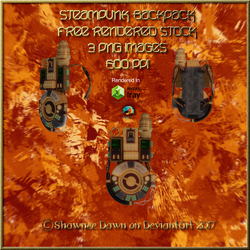 SteamPunk BackPack Stock Pack by ShawneeDawn