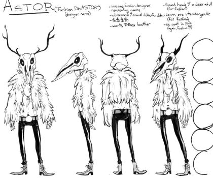 Character Reference - Astor by kaijuMOSES