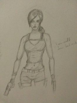 lara croft study by WhiteWolf737
