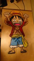 Big 'Small' Luffy (ironed) by MagicPearls