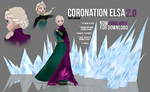 [MMD] Coronation Elsa 2.0 - AVAILABLE by wintrydrop
