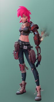 One more Post Apo Girl by StMan