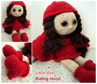 Little Red Riding Hood - My crochet doll by SuspiciousTeacup