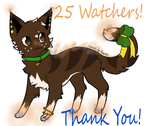 25 Watchers! Thank you! by Froststrike5829