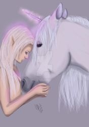 The Fae and the Unicorn by velvetlace-x