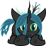 Filly Queen Chrysalis (Clean Character) by BlackWater627