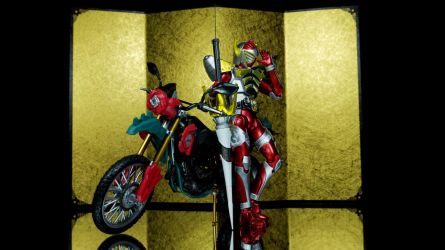 Kamen Rider Baron with Rose Attacker by Infinitevirtue