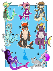 (late) Shark Week Adopts - 8/8 OPEN $6-$18 by EzriArt