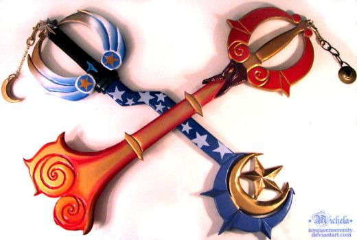 My Keyblades by icequeenserenity