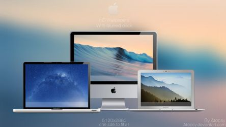 Mac wallpapers with blurred dock (Redone +3 more!) by Atopsy