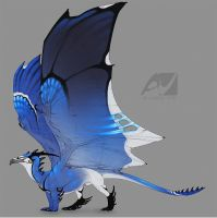Dragon design: blue jay by AverrisVis