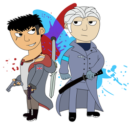 Dante and Vergil by suzukipot