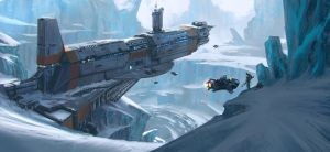 Big Hunting Game on an ice planet by KlausPillon