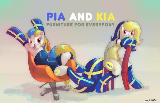 Pia and Kia Ikea by DocWario