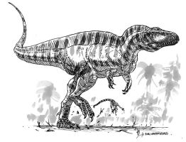 Acrocanthosaurus atokensis by dustdevil