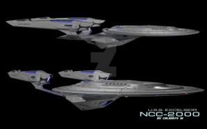 USS Excelsior (Kelvin Timeline) 2 by calamitySi